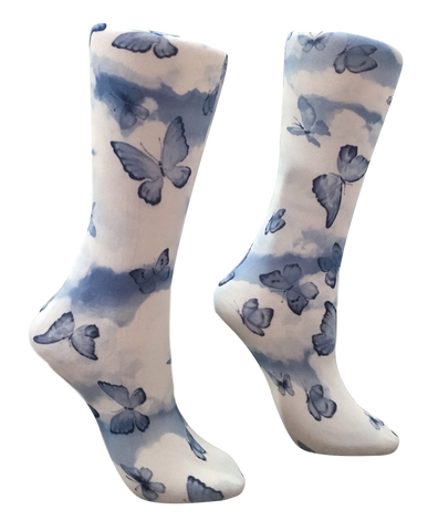 Soxtrot Knee High - Chambray Butterfly