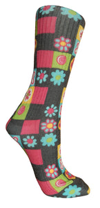 Soxtrot Cotton Sox - Daisy Checker