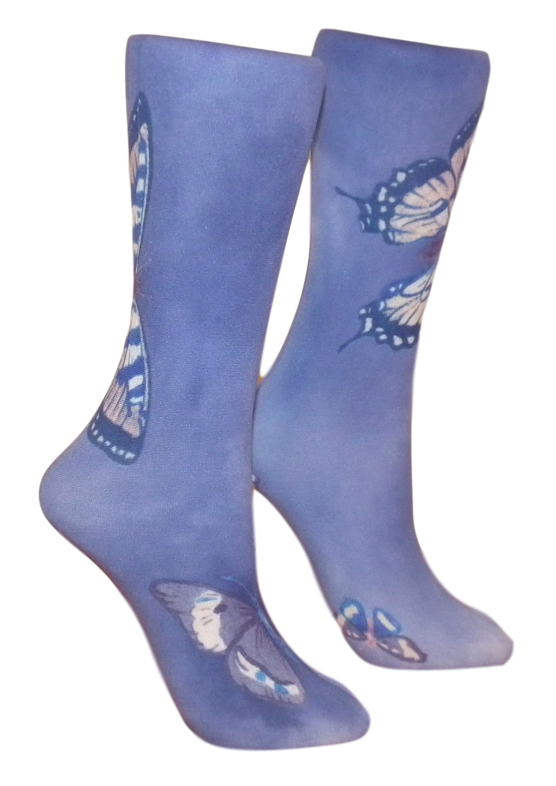 Soxtrot Knee High - Denim Butterfly
