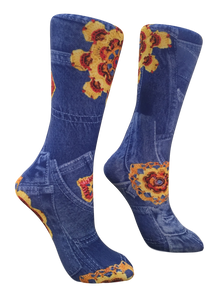 Soxtrot Knee High - Happy Denim