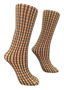 Soxtrot Knee High - Harvest Plaid