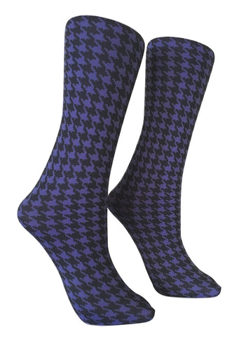 Soxtrot Knee High - Houndstooth Periwinkle