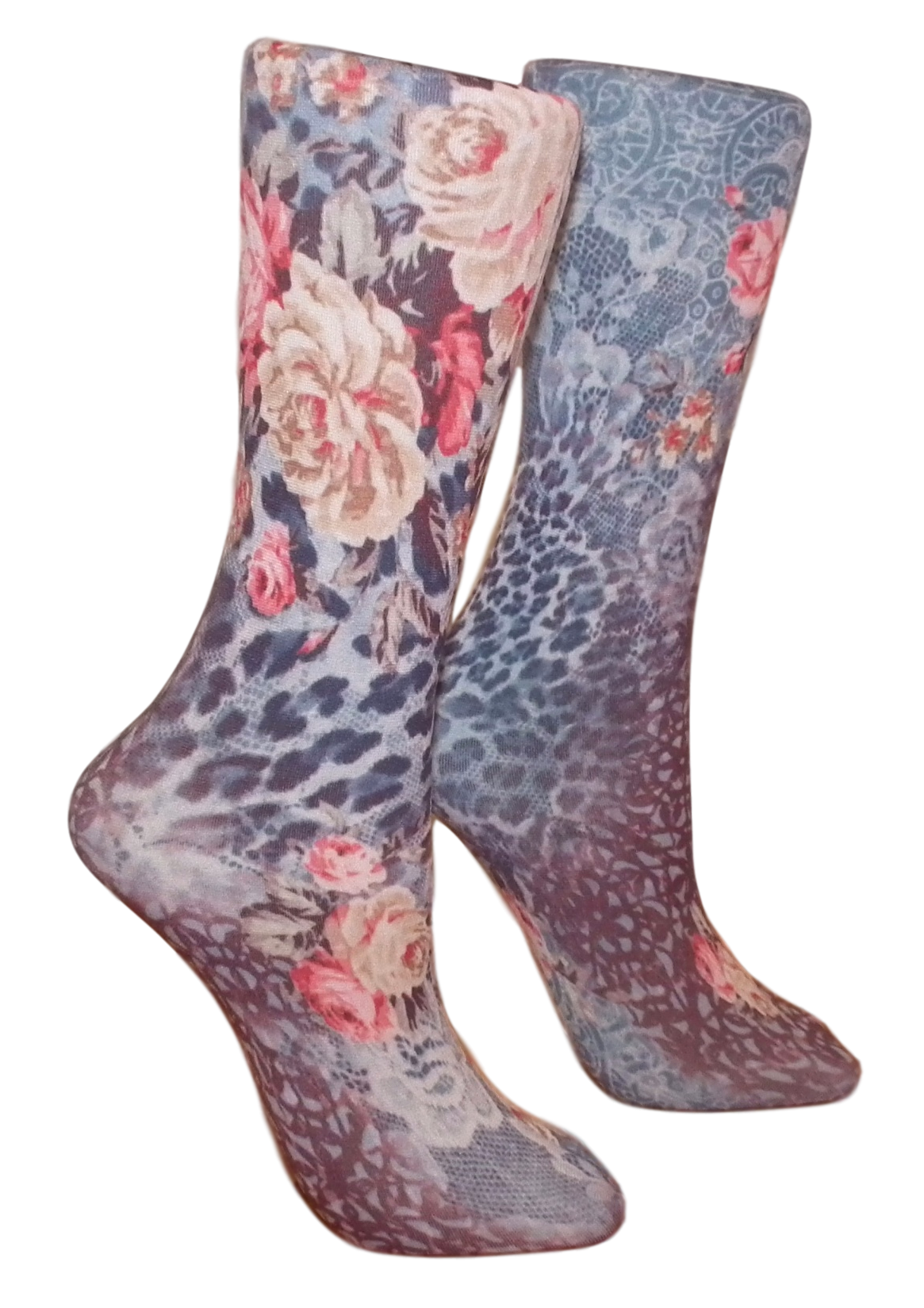 Soxtrot Knee High - Lace Meets Roses