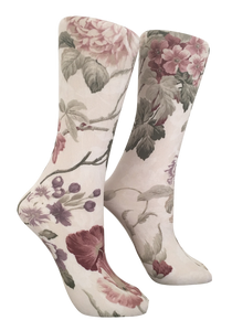 Soxtrot Knee High - Neutral Garden