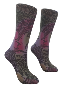Soxtrot Knee High - Paisley Potion