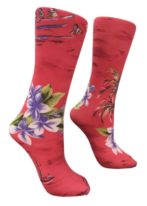 Soxtrot Knee High - Red Islander