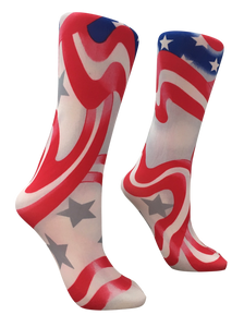 Soxtrot Knee High - Red, White & Blue