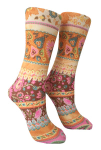 Soxtrot Knee High - Daisy Paisley