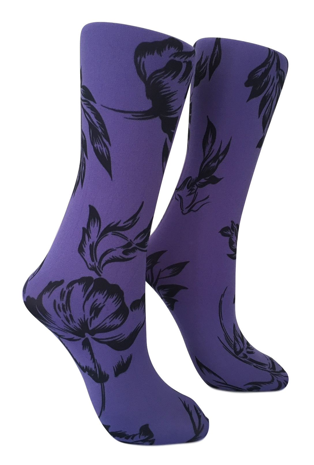 Soxtrot Knee High - Floral Etching