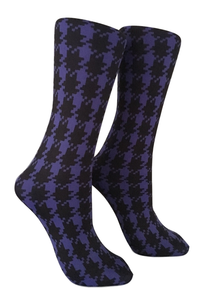 Soxtrot Knee High - Houndstooth Large Peri