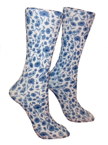 Soxtrot Knee High - Blue Field