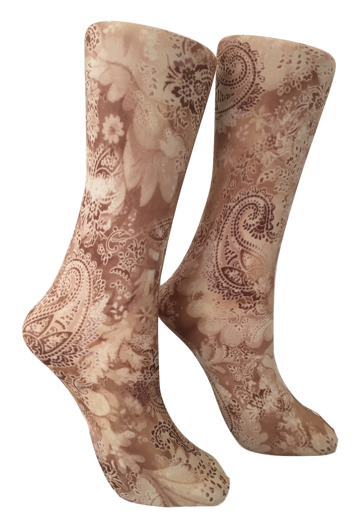 Soxtrot Knee High - Cocoa Paisley