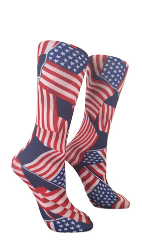 Soxtrot Kids Knee High - Stars & Stripes