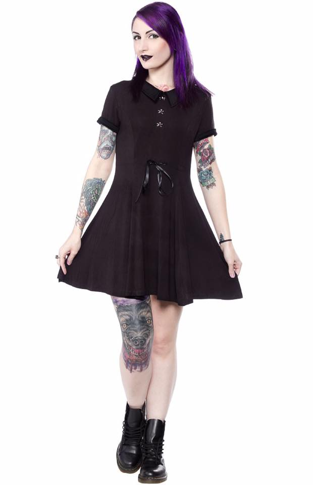 Killstar Doom Dress, Feminine Clothing, Killstar, Club Freak for Goth and Fetish Fashion
