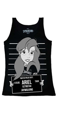 Twisted Ariel Mug Shot Tank, Feminine Clothing, Twisted, Club Freak for Goth and Fetish Fashion