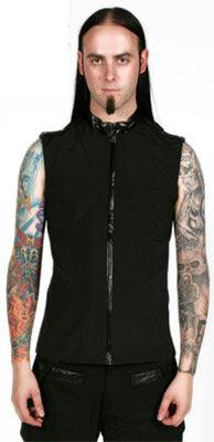 Covet Couture Zip-up Vest, Masculine Clothing, Covet Couture, Club Freak for Goth and Fetish Fashion