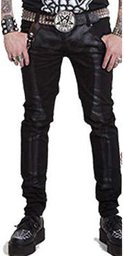 Kreepsville 666 Unisex Skeleton Jeans, Feminine Clothing, Kreepsville 666, Club Freak for Goth and Fetish Fashion