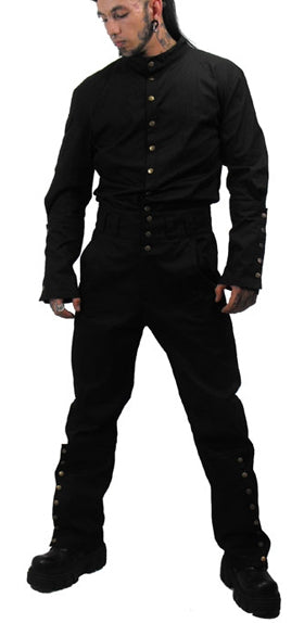 Necessary Evil Steam Punk Pant, Masculine Clothing, Necessary Evil, Club Freak for Goth and Fetish Fashion