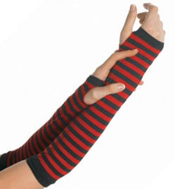 Leg Avenue and Music Legs Striped Arm Warmers, Accessories, Leg Avenue, Club Freak for Goth and Fetish Fashion