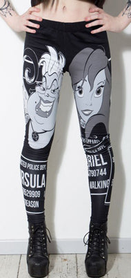 Twisted Disney Ariel Leggings, Feminine Clothing, Twisted, Club Freak for Goth and Fetish Fashion