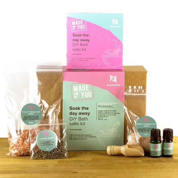 "Kit DIY ""Soak the day away"": Sales de baño - Lavanda y Bergamota"