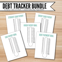 Load image into Gallery viewer, Editable Debt Thermometer Bundle - Instant Download