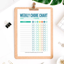 Load image into Gallery viewer, Fillable Chore Charts for Kids - Instant Download