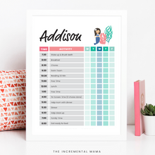 Load image into Gallery viewer, Kid's Daily Schedule Bundle - Fillable Instant Download