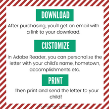 Load image into Gallery viewer, Editable Letter from Santa - Instant Download
