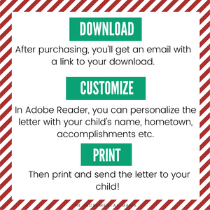 Editable Letter from Santa - Instant Download