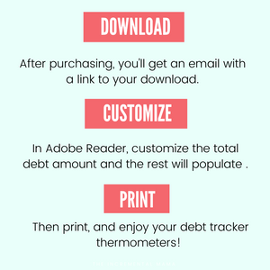 Editable Debt Thermometer Bundle - Instant Download