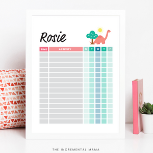 Kid's Daily Schedule Bundle - Fillable Instant Download