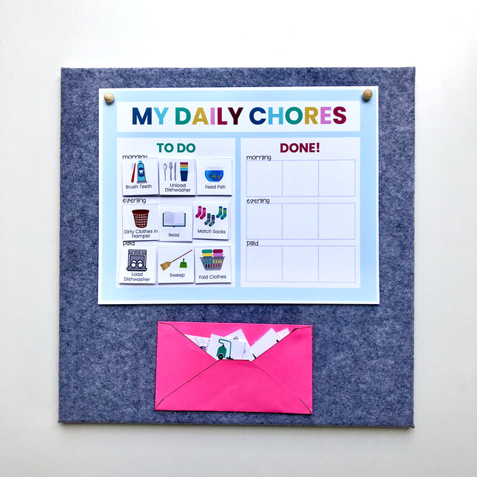 Customizable Picture Chore Chart - Instant Download