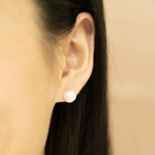 White Pearl Earrings on Women l Shop Lonna