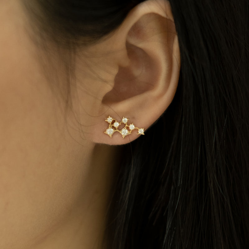 Stars stud gold silver earrings on women l Shop Lonna