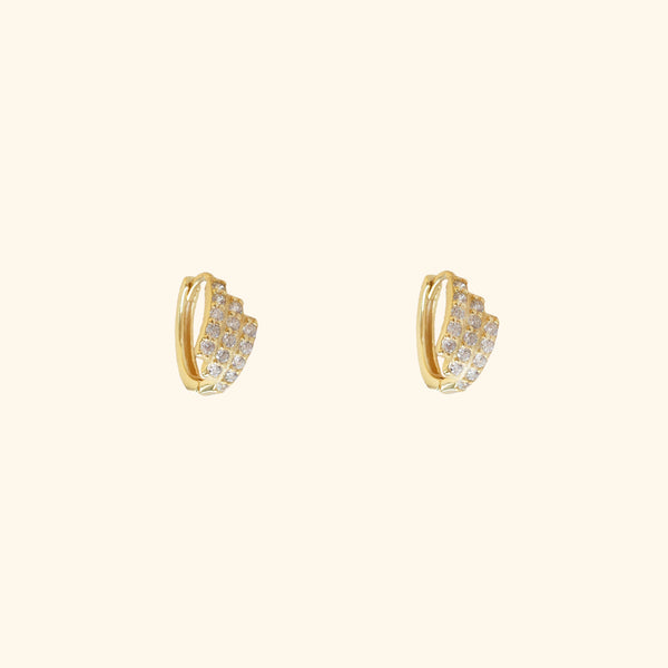 Diamond mini huggie hoop earrings l Shop Lonna