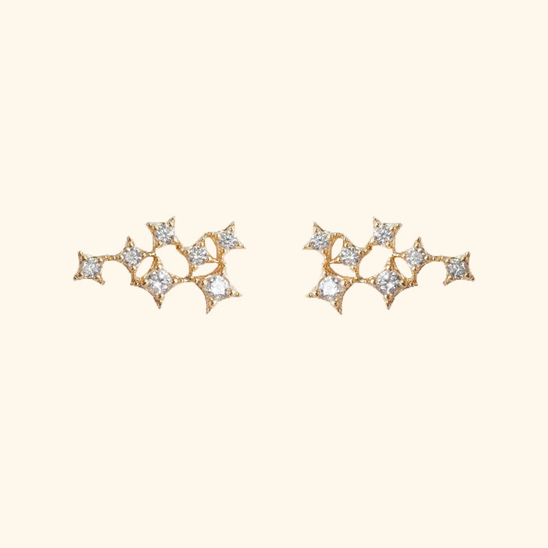 Stars stud gold silver earrings l Shop Lonna