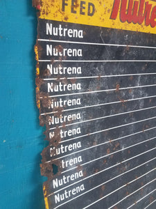 Nutrena Feed Large Rusty Metal Farm Sign Board