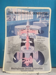 Westinghouse Electric Company Waterwheel Generator Sign
