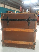 Load image into Gallery viewer, Square Antique Steamer Trunk