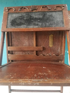 Antique Student Chalkboard Desk