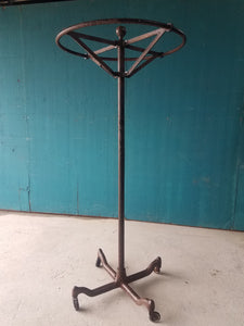 Rustic Metal Clothing Rack Rounder