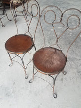 Load image into Gallery viewer, Cafe Ice Cream Chairs-Copper Flash Finish with Wood Seat