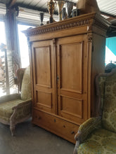 Load image into Gallery viewer, European Pine Armoire Cabinet