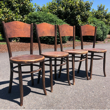 Load image into Gallery viewer, Fischel Bentwood Cafe Chairs-Set of 4