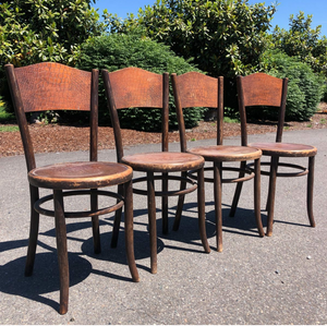 Fischel Bentwood Cafe Chairs-Set of 4