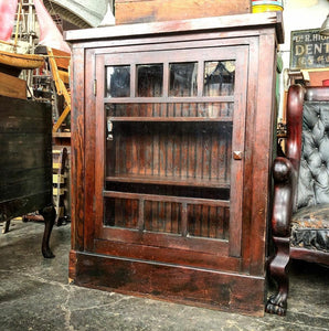 Fir Craftsman Style Bookcase Cabinet