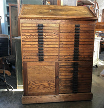 Load image into Gallery viewer, Rockford Folder Co Printer Typeset Cabinet