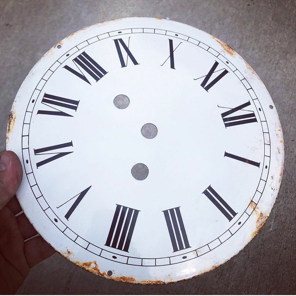 9 Inch Round Porcelain Clock Faces