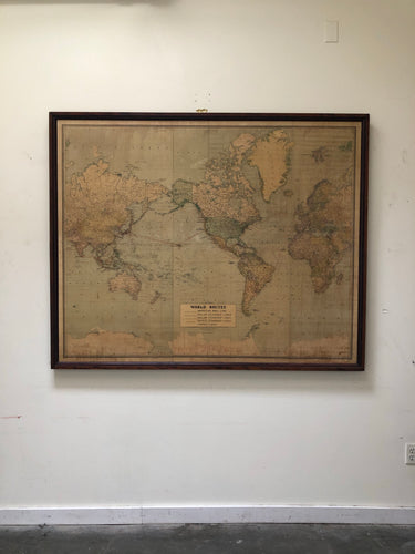 Antique 1930's Steamship Map